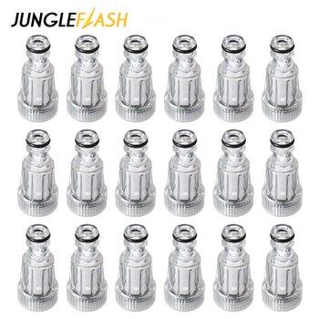 JUNGLEFLASH-máquina lavadora para limpieza de coche, filtro de alta presión, arandelas, filtro de agua reutilizable de plástico para Karcher K2-K7, 50 Uds.