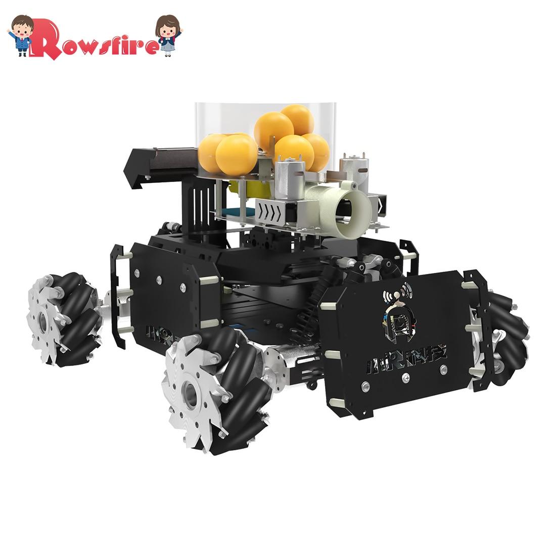 DIY Steam Omni Wheel Turret Chariot VR Video Control XR Master Robot For STM32 - Black