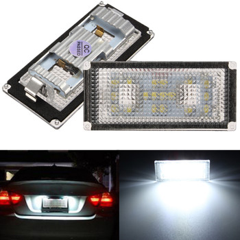 2pcs LED Car Number License Plate Light Lamp 7000K for BMW E66 E65 7-Series 735i image