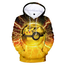 Mens Pokemon Hoodies Sweatshirt Street Hoody Pullover Cartoon Mit Kapuze Sweatshirts Männer Winter Fleece Pokemon Männlichen Hoodie(China)
