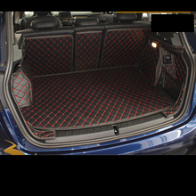 Lsrtw2017 Leather Car Trunk Mat Cargo Liner for Bmw F45 F46 2014 2015 2016 2017 2018 2019 2020 Interior Accessories rear tray цена 2017