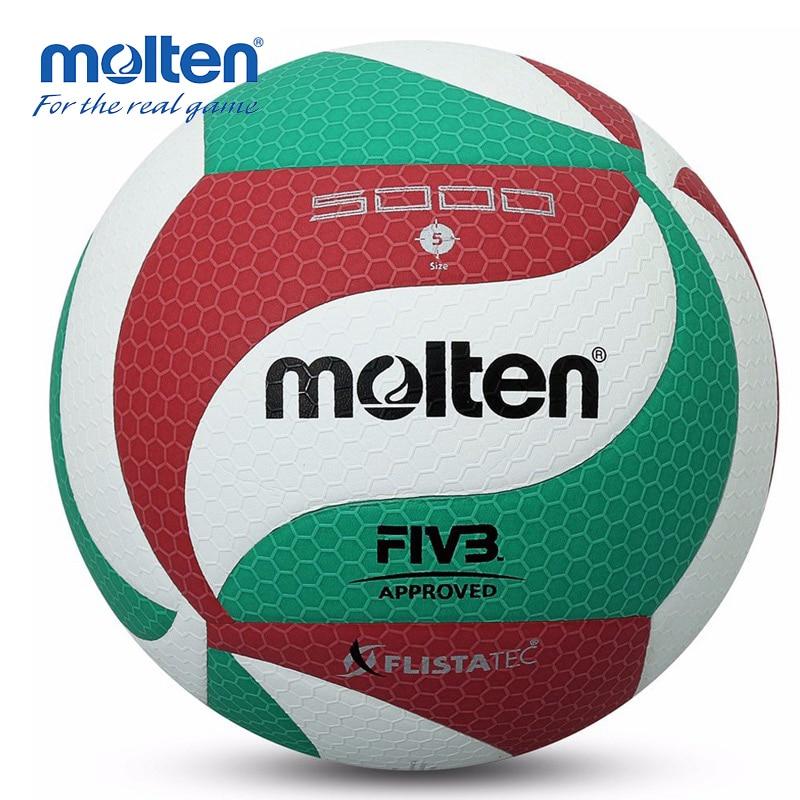 Оригинальный мяч для волейбола Molten V5M5000, официальный размер 5, для тренировок в помещении и на улице
