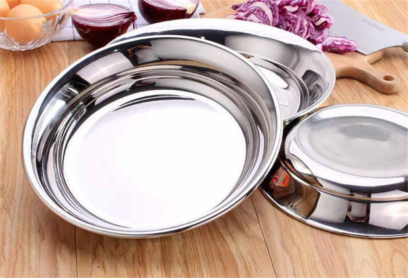 고품질 304 스테인리스 수프 과일 디저트 접시 ableware 튼튼한 접시 그릇 부엌 부속품 bandeja 물고기 접시