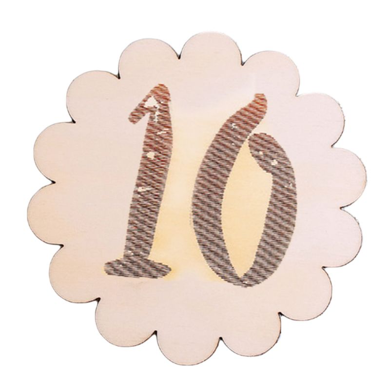 Kids Baby Monthly Wooden Card Double Sided Milestone Stickers Blocks Baby Month Card Photography Props