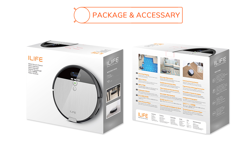 H52d991feddfb4b00a88eb040130a24136 ILIFE V8s Robot Vacuum Cleaner Sweep&Wet Mop Navigation Planned Cleaning large Dustbin large Water Tank Schedule disinfection