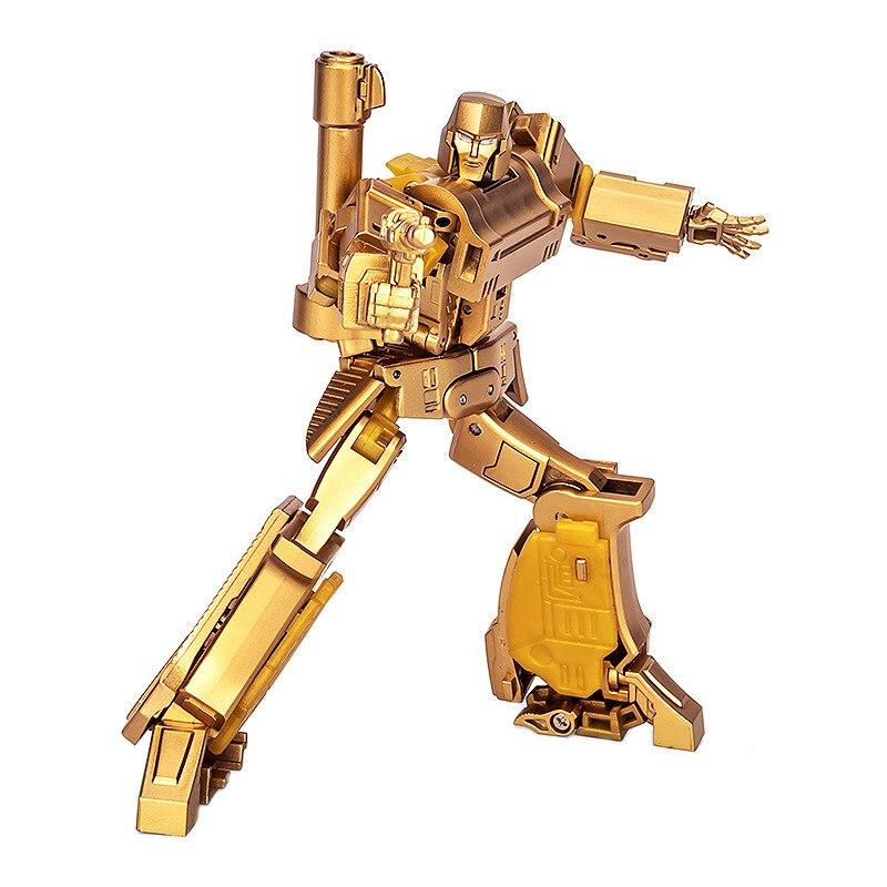 Newage NA-H9G Transformation Action Figure Toy Pistol MEGA Galvatron Gold Edition Model ABS 11cm MP36 Deformation Car Robot Gift