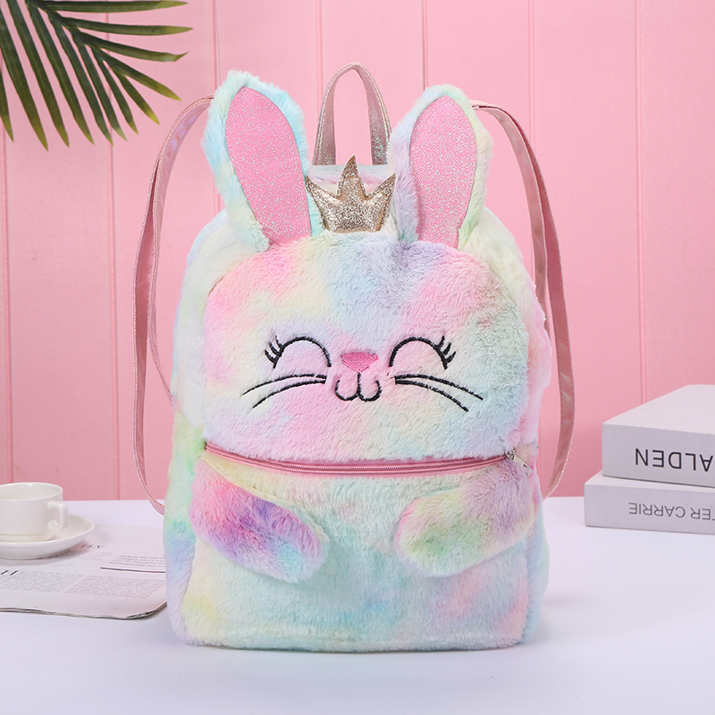 2020 New Women Plush Unicorn Backpacks Cute Fashion Fur Backpacks For Girls Travel Backpack Kawaii Children Schoolbag