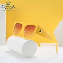 D&T 2020 New Fashion Oval Shield Sunglasses Women Men Color