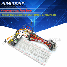 1sets/(3PCS) MB102 830 Point Solderless PCB Breadboard with 65PCS Jump Cable Wires and starter kit new