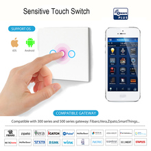 Z wave Light Switch 3 gang EU Home Automation Smart Remote Control Wall Compatible plus Fibaro Smartthings