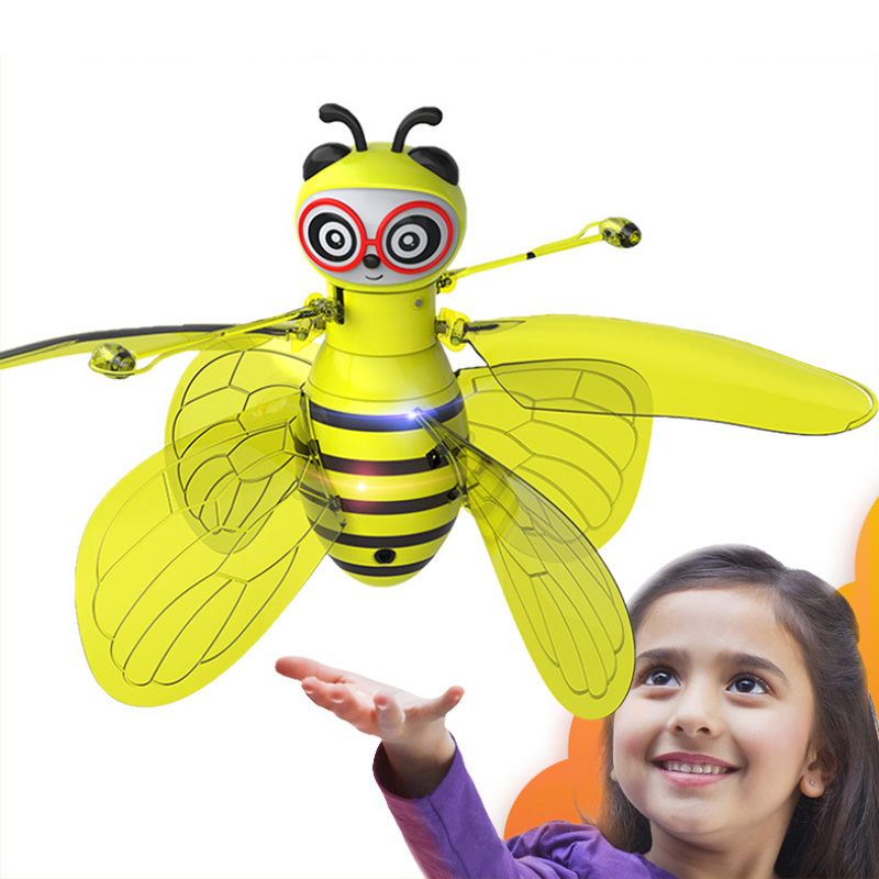 Hot UFO Drone Magical Bee Fly RC Helicopter Infraed Induction Aircraft Upgrade RC Toys for Kids,Children Figure Toy Plane Gift(China)