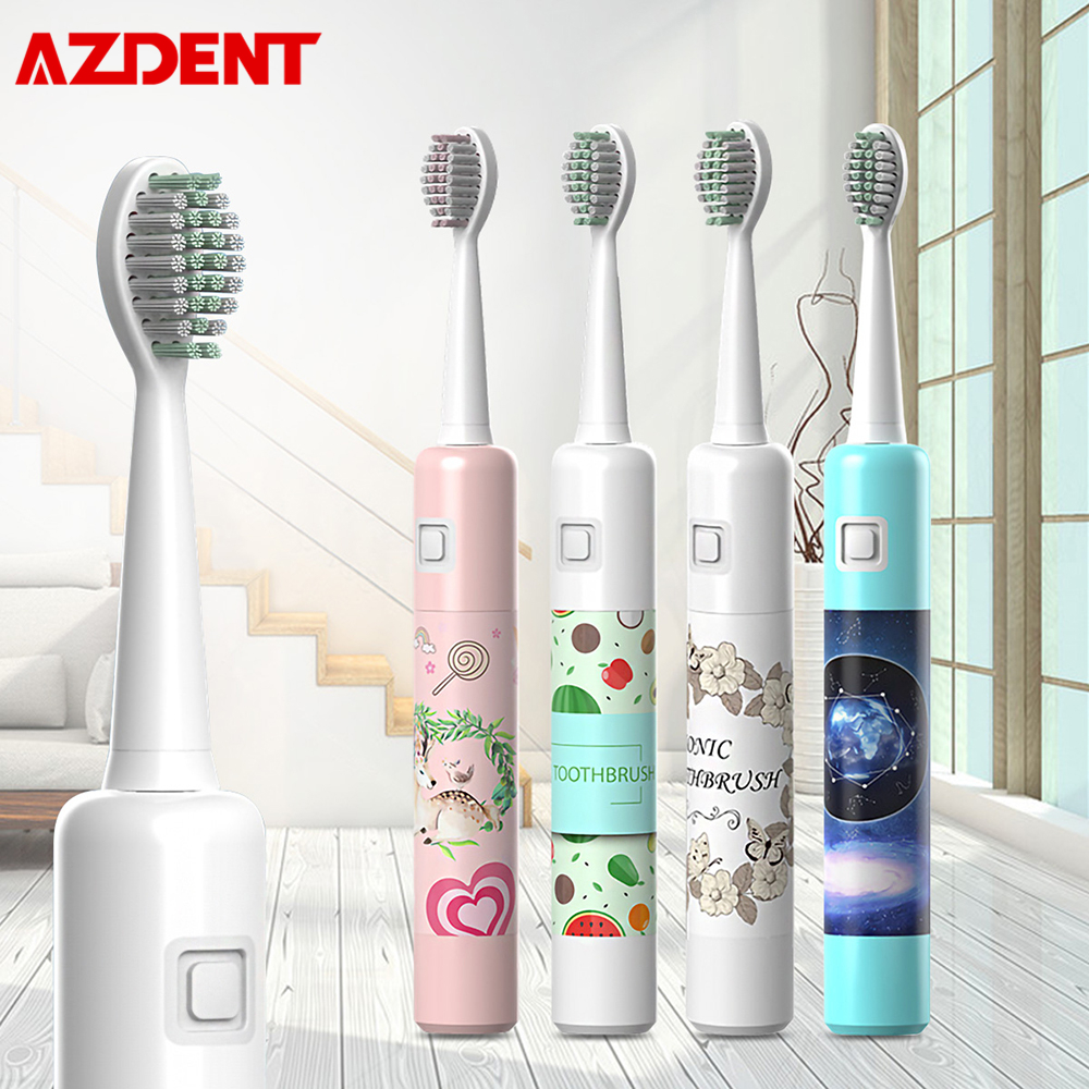 6 Modes Intelligent Sonic Electric Toothbrush USB Rechargeable Waterproof Cute Teeth Brush With 2 Replaceable Heads Storage Box