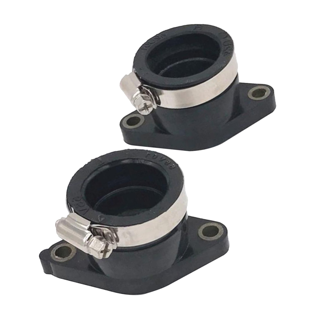 KSTE 2Pcs Motorcycle Carb Carburetor Intake Manifold Boot Joint Compatible with YAMAHA RD350LC RZ350L YFZ350