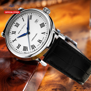 Image 4 - Seagull 2019 novo relógio de negócios casal relógio mecânico 50 metros à prova dwaterproof água couro moda masculino relógio 819.368