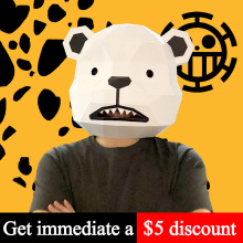 Toy Cosplay-Prop Party Child-Size Paper-Model Craft Bear-Mask Anime DIY 3D Ce White One-Piece