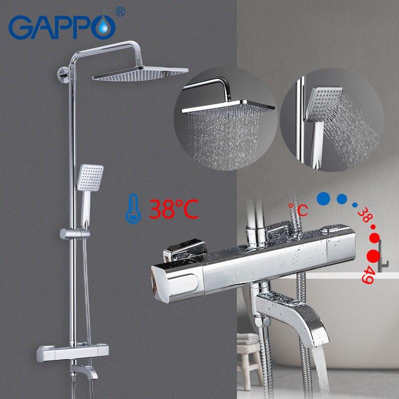 GAPPO robinets de douche thermostatique salle de bain mitigeur de douche robinet de douche robinet de bain mural mitigeur de pluie ensemble de douche