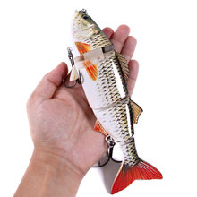 24cm 140g isca Artificial Bait Big Fishing Lure 4 Segments sinking Swimbait Crankbait Hard Bait Big Game Fish Lure hooks