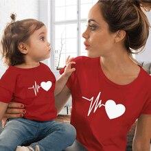 T-shirt pour maman et moi, vêtements assortis, Look de famille mignon, mère et fille, tenues pour femmes