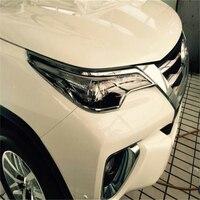 WELKINRY auto auto abdeckung styling Für Toyota Fortuner SW4 AN160 2015 2016 2017 ABS chrom vorne kopf lampe licht scheinwerfer trim