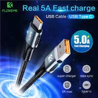 Novedoso pack de 5A sobrecargar Tipo C Cable USB de carga rápida Cable USB Tipo C Cable de datos para Samsung S10 S9 Plus para Huawei Cabo Tipo C