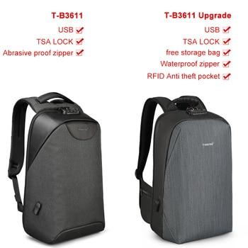 No Key Anti theft TSA Lock Fashion Men Backpacks 15.6inch USB   6