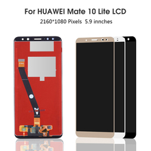 Original 5.9'' Display with Frame Replacement Panel for Huawei Mate 10 Lite LCD Touch Screen Digitizer Assembly Nova 2i RNE-L2 huawei original nova 2 lcd display touch screen digitizer for huawei nova2 display with frame replacement pic al00 pic tl00