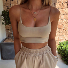 Womens Summer Camis Tanks Tops Sleeveless Cotton Bustier Unpadded Bandeau Bra Vest Crop Top Seamless Tees cheap AOWOFS CN(Origin) Polyester Ages 18-35 Years Old Broadcloth DF-3078 xdh NONE Sexy Club Solid SHORT