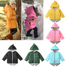 Clothing Outwear Jacket Toddler Baby-Girl Winter Coat Kids Dinosaur Zipper Boys Hoodie