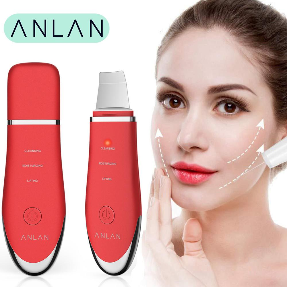 ANLAN Descamação Máquina de Vibração Ultra-sônica do Purificador Da Pele Facial Limpo Cravo Esfoliante Poros Rugas Da Pele do Rosto Ferramentas Limpas
