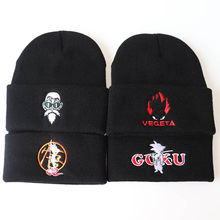 2020 New Anime Dragon Ball Series Beanie GOKU Goku Master Roshi Embroidered Knitted Hat Hip Hop Ski Hat Woolen Hat(China)