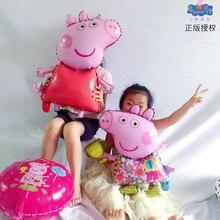 1pc 18 pulgadas Peppa Pig globo de figura Peppa George globos de papel de aluminio de la ducha de Bebé feliz cumpleaños fiesta habitación Dcorations juguetes de los niños regalo