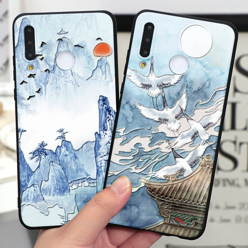 3D Emboss Case For Huawei Honor 10I 20I 7A 8X 9X V30 View 20 10 9 Play Mate 30 Lite Y6 Y7 Pro Y9 Prime 2019 2018 Fundas Soft TPU