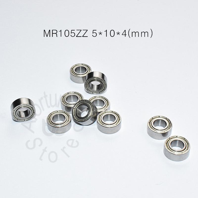 MR105ZZ 5*10*4(mm) 10pieces free shipping bearing Metal Sealed Miniature M105 Mini Bearing MR MR105ZZ chrome steel bearing