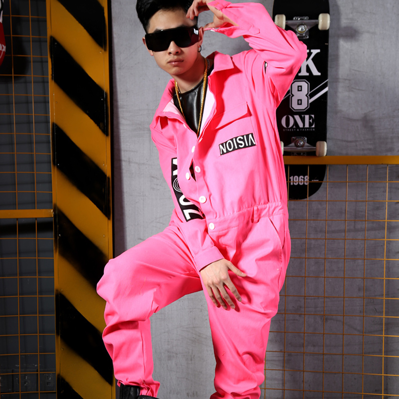 Tailor-made Men Long Sleeve Hip Hop Overalls Fashion Harem Pants Male Women Casual A Pieces Trousers Jumpsuits Stage Wear