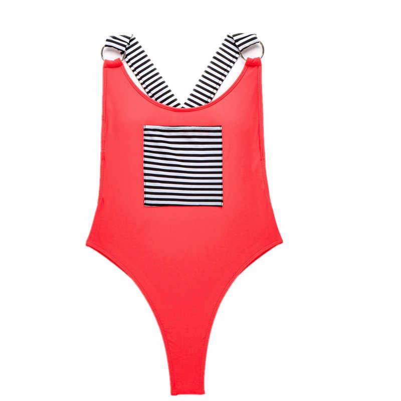 Traje de baño de una pieza Sexy para mujer, bañador Monokini sin espalda, Sujetador con relleno con aumento, Bikini, Beacg, bañador