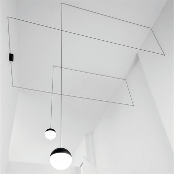 Nordic Post-modern Iron Art Line Pendant Lamp Living Room Bedroom Lamp Corridor DIY Home Decor Glass Led Pendant Lights Fixtures