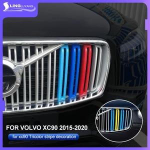 Image 3 - עבור וולוו xc90 2015 2019 דגם שלושה צבע נטו קישוט רצועת חדש רשת שונה מיוחד צבע מדבקות