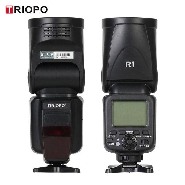 Triopo R1 スピードライトフラッシュライト丸頭 2.4 グラムワイヤレス ttl 1/8000s 5600 18k 色温度 76Ws 16 チャンネル