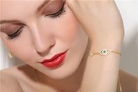 New New Monaco Bracelet Evil Eye Hand Chain Bracelet Women Fashion Jewelry 925 Sterling Silver Chain Charm Bracelet