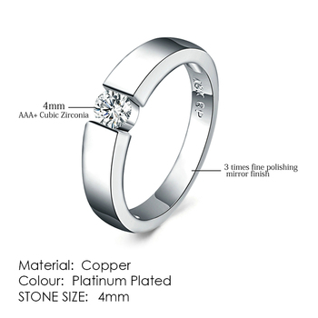 ZHOUYANG Ring For Women Simple Style Cubic Zirconia Wedding Ring Light Gold Color Fashion Jewelry KBR103 8