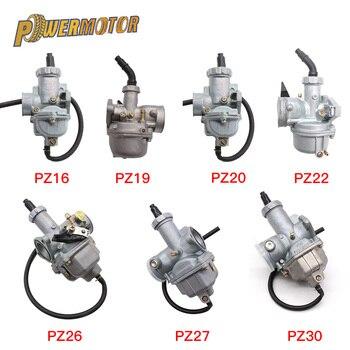 Carburador da motocicleta pz16 pz19 pz20 pz22 pz26 pz27 pz30 cabo de mão carb para 50cc-250cc bicicleta da sujeira atv quad go kart