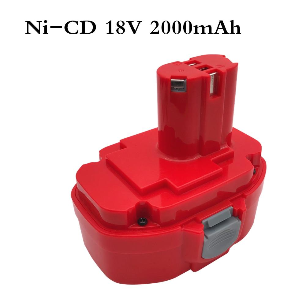 18V 2.0AH 2000mAh Ni-CD Rechargeable Power Tool Battery For MAKITA 1822 192826-5 192827-3 PA18 18 Volt