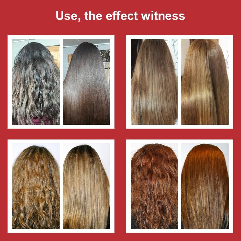 Купить с кэшбэком 11.11 Brazilian 5% 300ml Keratin Treatment+100ml Purifying Shampoo Straighten and Repair Damaged Cruly Hair+Free Gifts