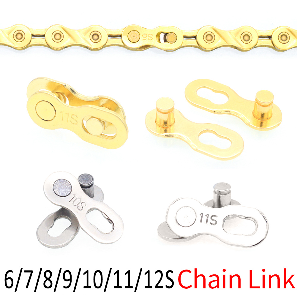 6/7/8/9/10/11/12 Speed Bicycle Chain Connector Lock Quick Link Road Bike Magic Buckle Master Bicycle Joint Cycling Parts Gold