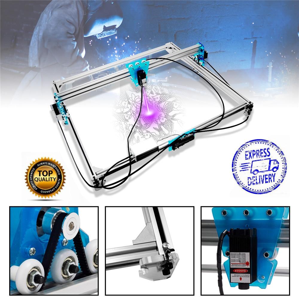 Mini 3000mw Laser Engraver Machine 65x50cm Blue CNC Laser Engraving Machine DIY Engraver Desktop Wood Router/Cutter+Laser Goggle