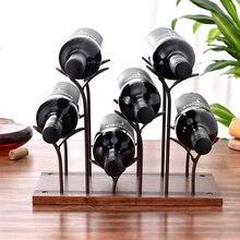 Креативная винная полка для маленького вина металлическая отдельно