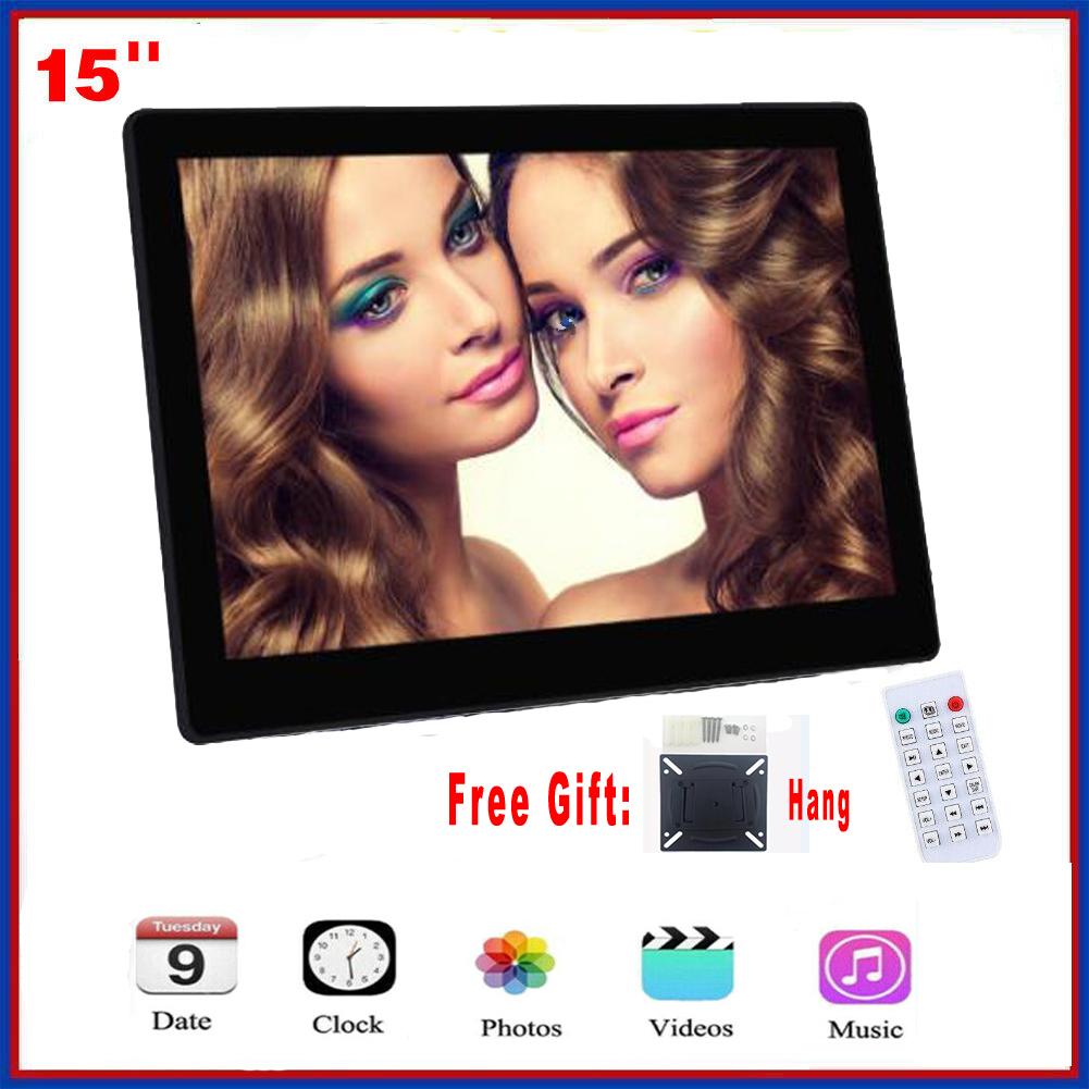 15 Inch Backlight HD1280*800 Full Function Digital Photo Frame Electronic Album digitale Picture Music Video gift baby