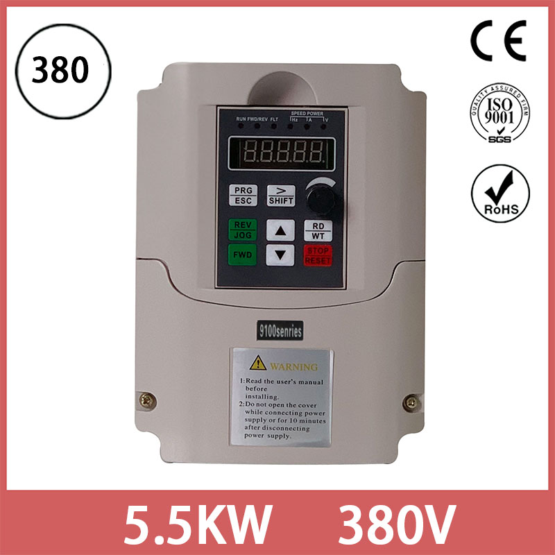inverter 380V 4KW to 5.5KW three Phase INPUT Output Frequency Converter / Adjustable Speed Drive / Frequency Inverter / VFD