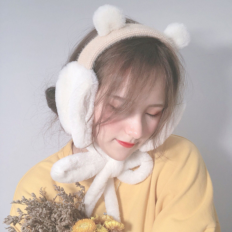 MIARA. L New Style Earmuffs For  Women Folding Earmuffs For Winter And Autumn  Windproof And Frost-proof