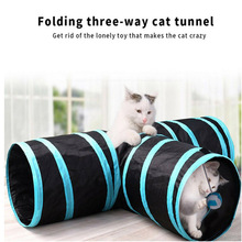 Pet Cat Tunnel Passageway Tubes Collapsible Crinkle Kitten Folding Play Funny Interactive Toy Pet Training Supplies